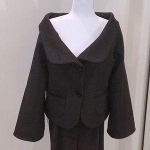 Shawl collar wool jacket SZ MED